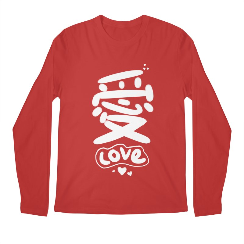 love_愛 Men's Regular Longsleeve T-Shirt by EDINCLISM's Artist Shop