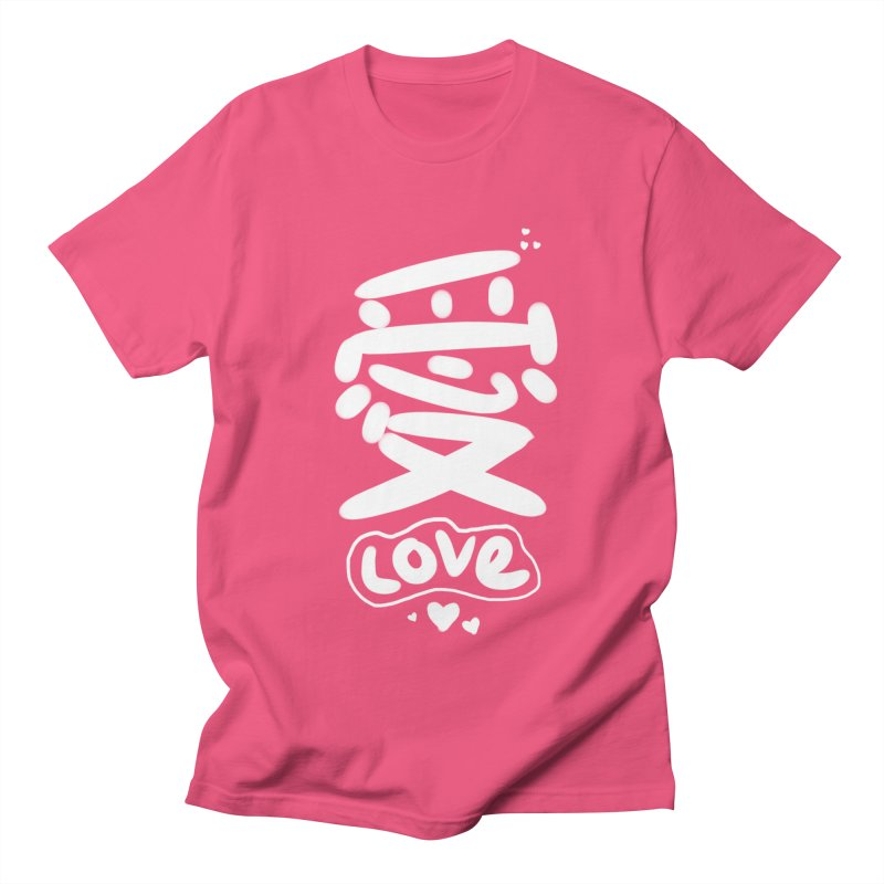 love_愛 Women's Regular Unisex T-Shirt by EDINCLISM's Artist Shop
