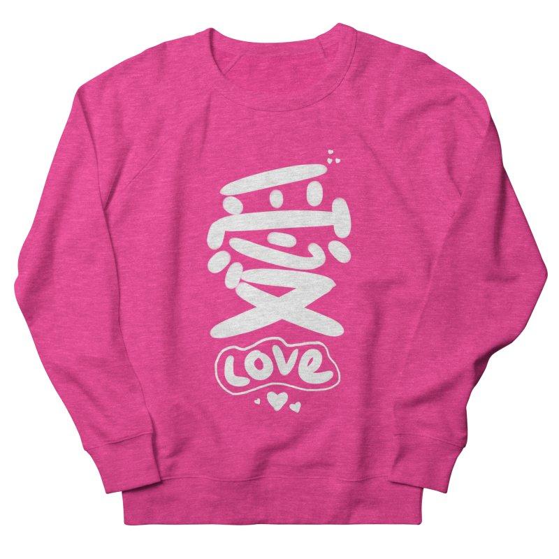 love_愛 Women's French Terry Sweatshirt by EDINCLISM's Artist Shop