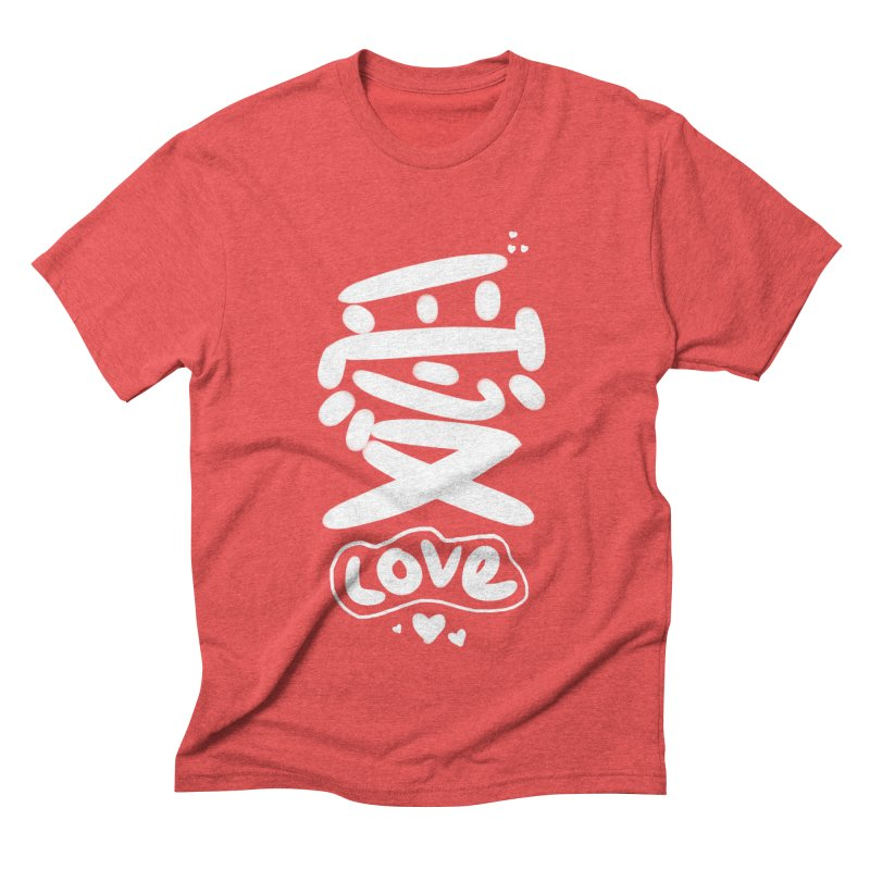 love_愛 Men's Triblend T-Shirt by EDINCLISM's Artist Shop