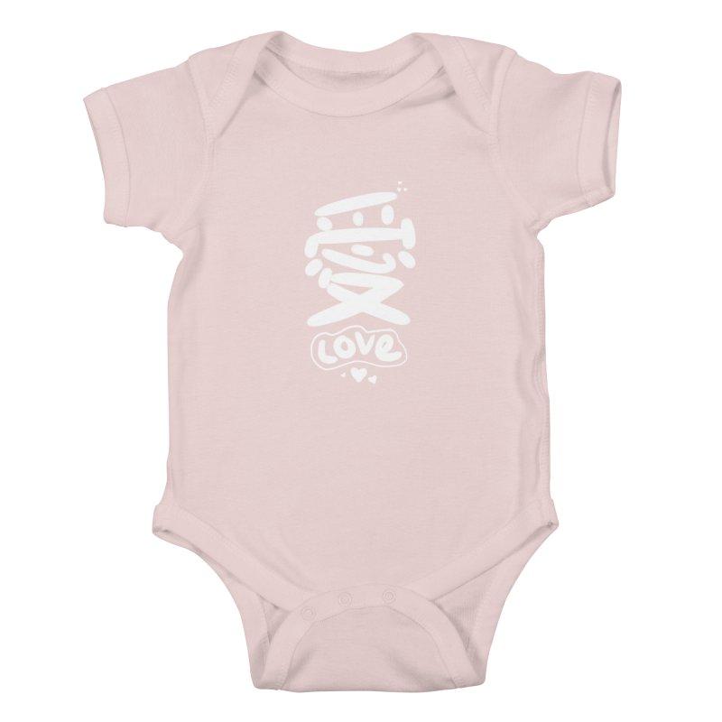 love_愛 Kids Baby Bodysuit by EDINCLISM's Artist Shop