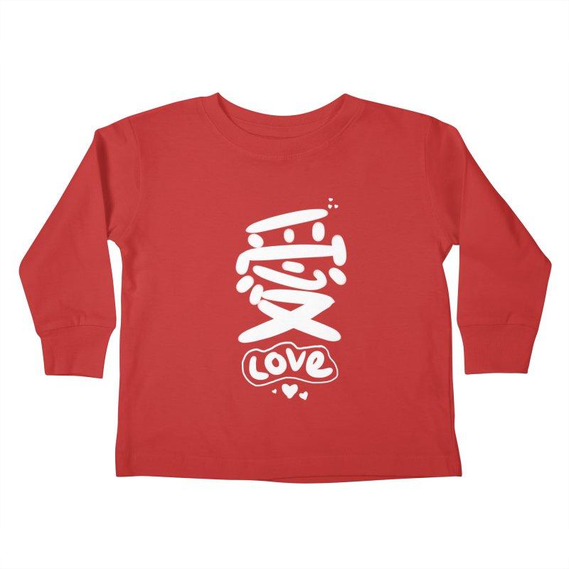 love_愛 Kids Toddler Longsleeve T-Shirt by EDINCLISM's Artist Shop
