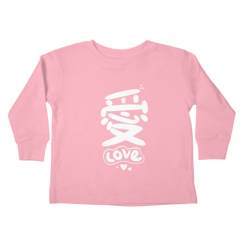 love_愛 Kids Toddler Longsleeve T-Shirt by EDINCLISM's Artist Shop