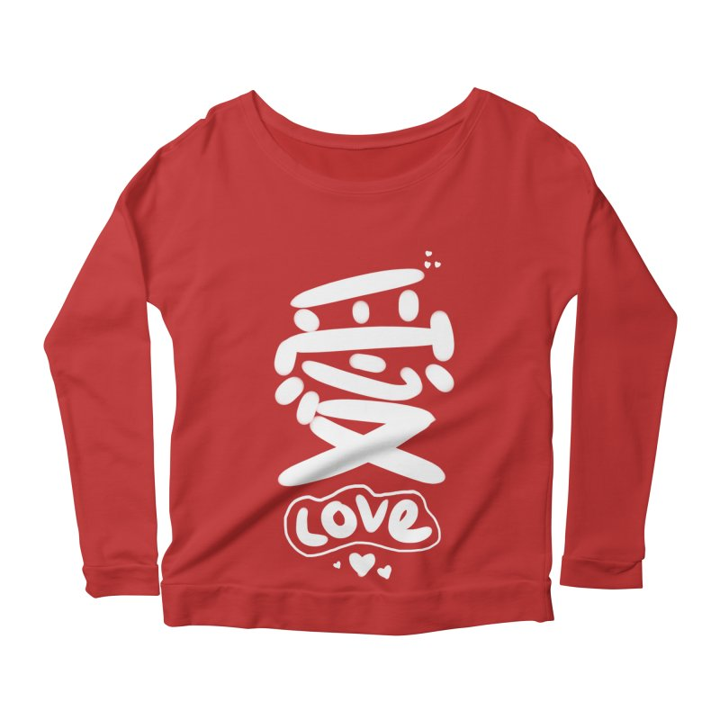 love_愛 Women's Scoop Neck Longsleeve T-Shirt by EDINCLISM's Artist Shop