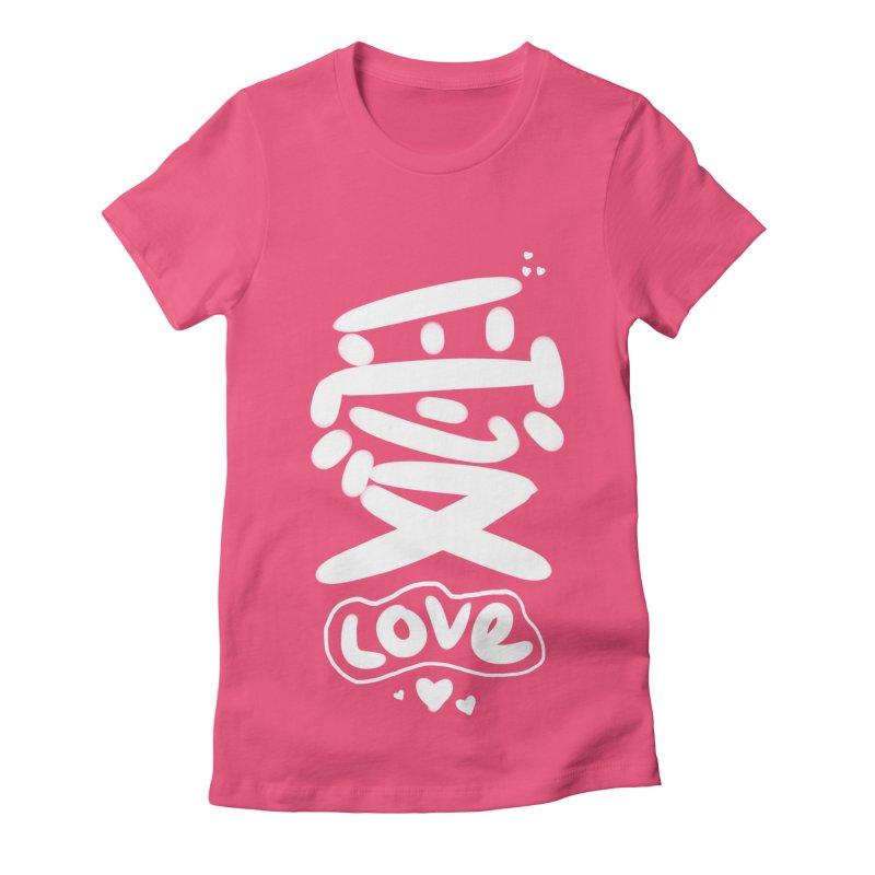 love_愛 Women's T-Shirt by EDINCLISM's Artist Shop