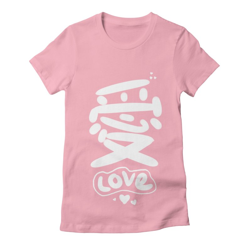 love_愛 Women's Fitted T-Shirt by EDINCLISM's Artist Shop