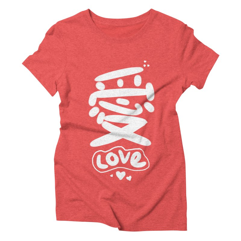 love_愛 Women's Triblend T-Shirt by EDINCLISM's Artist Shop