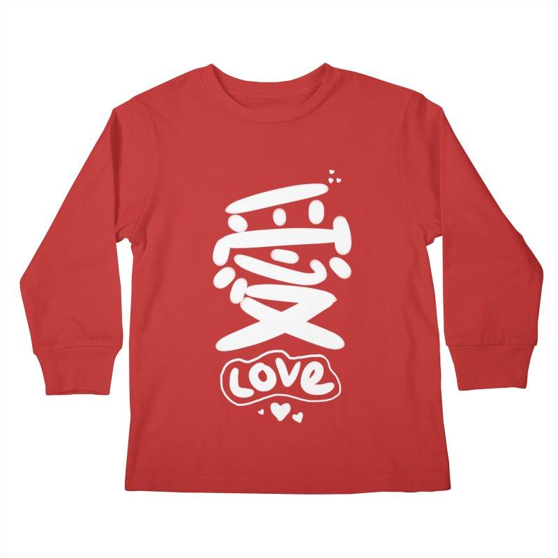 love_愛 Kids Longsleeve T-Shirt by EDINCLISM's Artist Shop