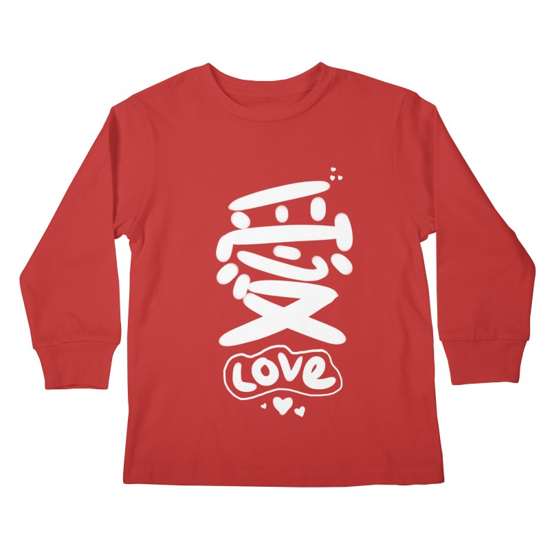 love_愛 Kids Longsleeve T-Shirt by EDINCLISM's Artist Shop
