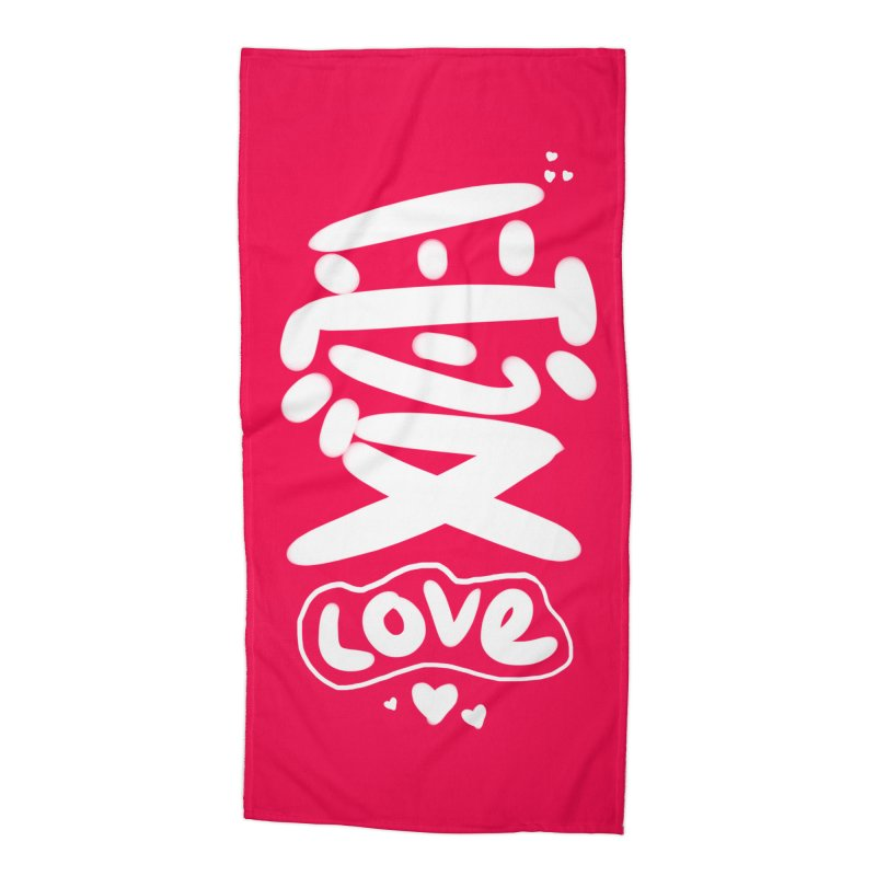 love_愛 Accessories Beach Towel by EDINCLISM's Artist Shop
