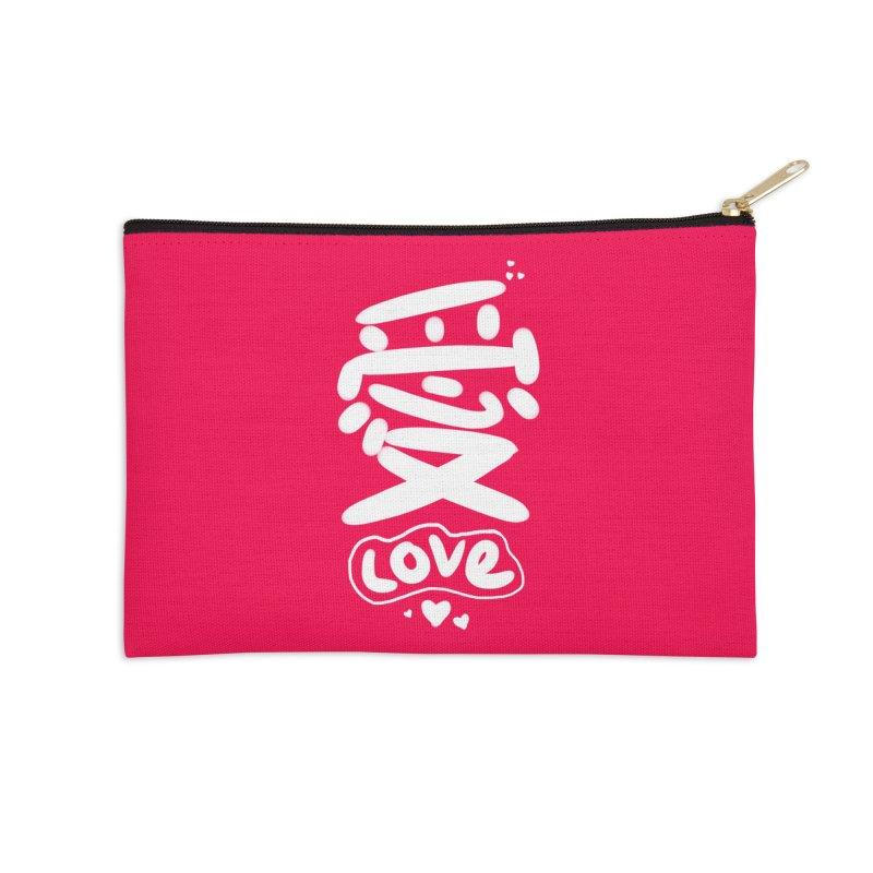 love_愛 Accessories Zip Pouch by EDINCLISM's Artist Shop