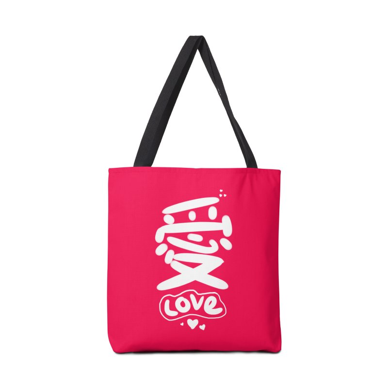 love_愛 Accessories Bag by EDINCLISM's Artist Shop