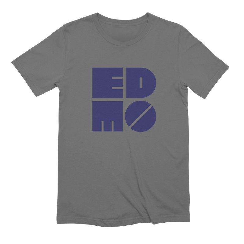 EDMO Navy Logo Men's T-Shirt by EDMO