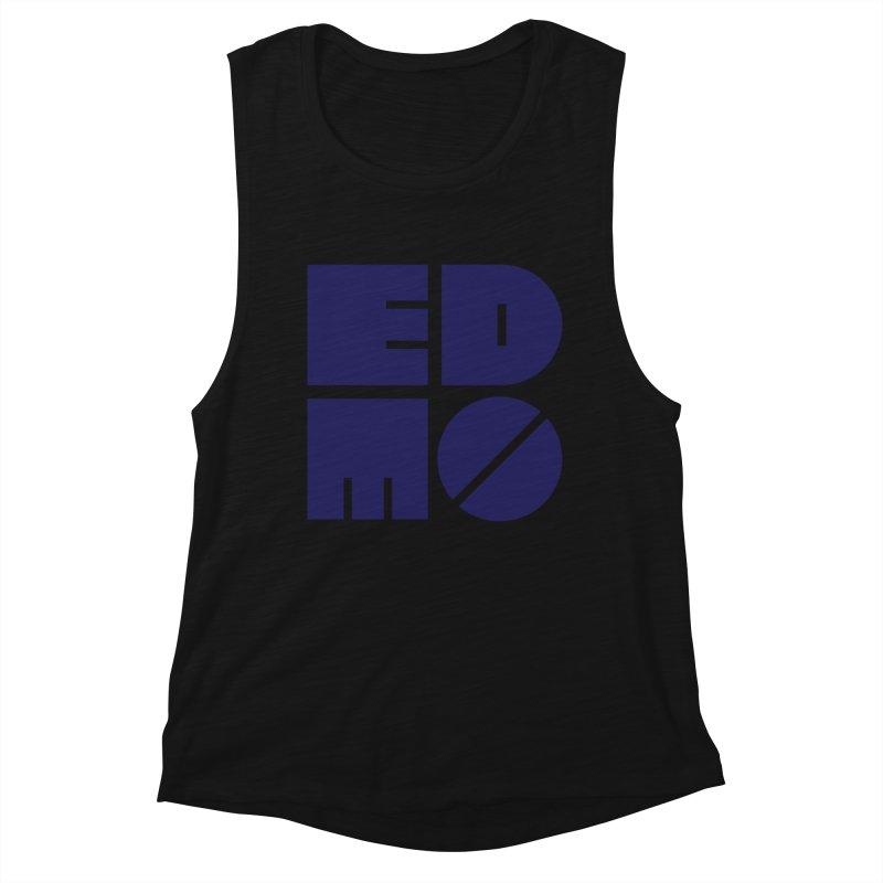 EDMO Navy Logo Women's Tank by EDMO