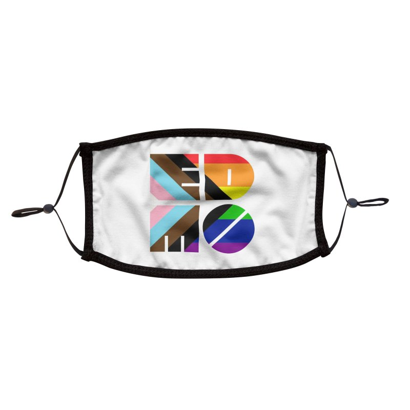 Pride Trans BLM EDMO Accessories Face Mask by EDMO