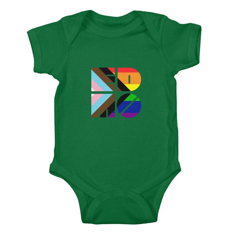 Pride Trans BLM EDMO Kids Baby Bodysuit by EDMO