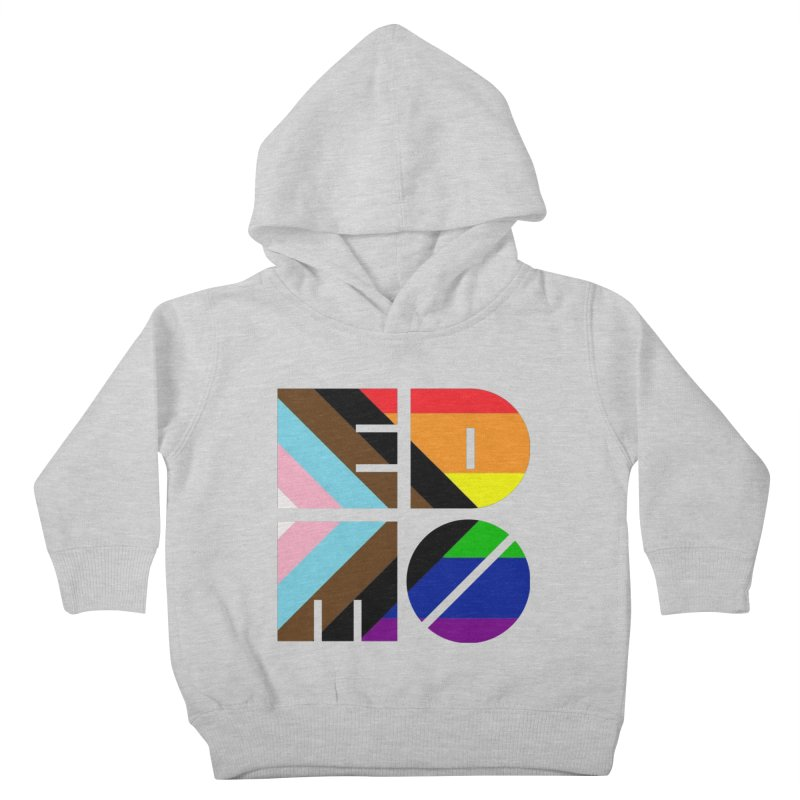 Pride Trans BLM EDMO Kids Toddler Pullover Hoody by EDMO