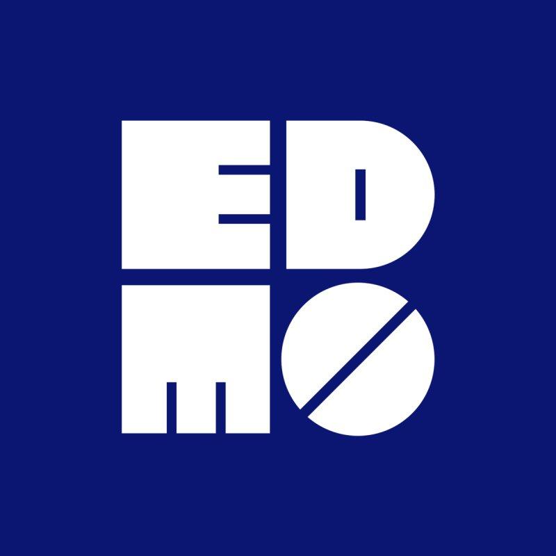 White EDMO Logo (Pocket) Kids Toddler Pullover Hoody by EDMO