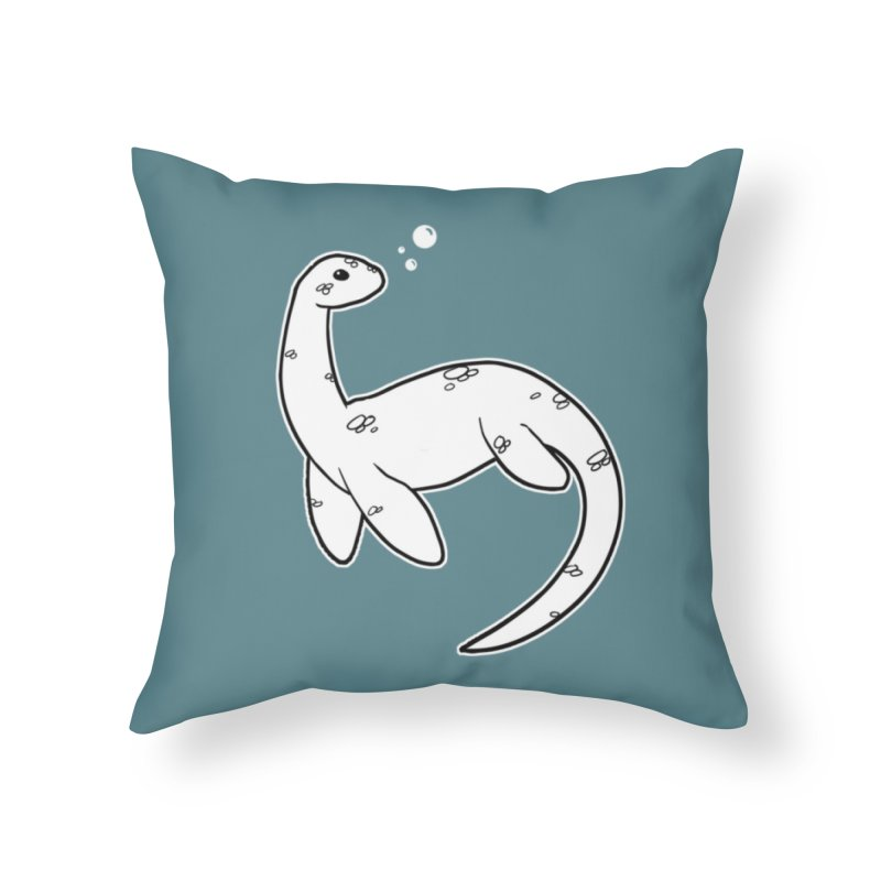 Nessie Home Throw Pillow by EEKdraws's Artist Shop