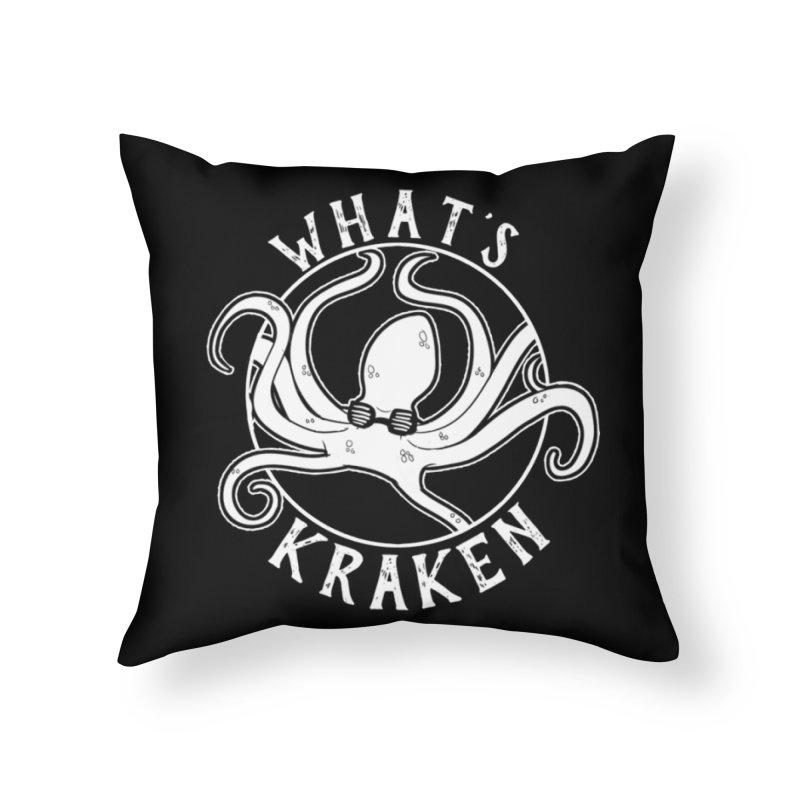 What's Kraken? Home Throw Pillow by EEKdraws's Artist Shop