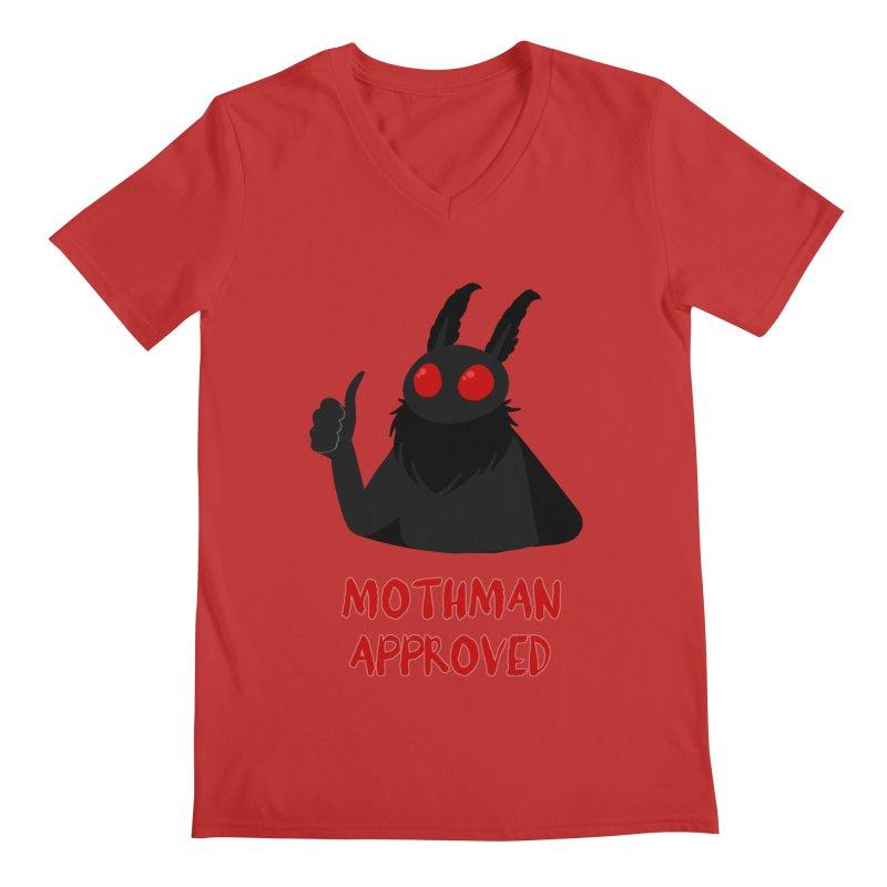 Mothman Approved Men's V-Neck by EEKdraws's Artist Shop