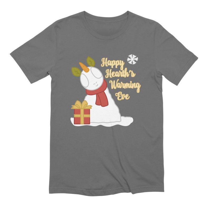Snow Pony w/ Text Men's T-Shirt by EEKdraws's Artist Shop