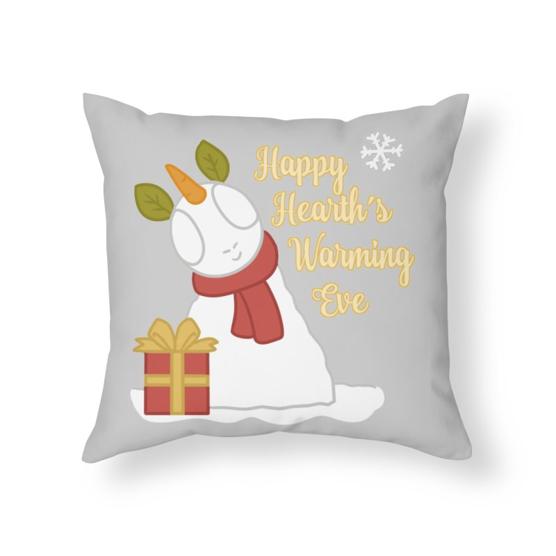 Snow Pony w/ Text Home Throw Pillow by EEKdraws's Artist Shop