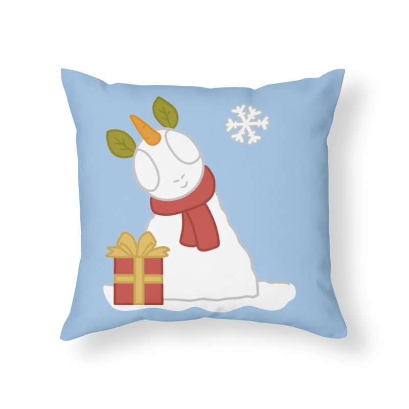 Snowpony Home Throw Pillow by EEKdraws's Artist Shop