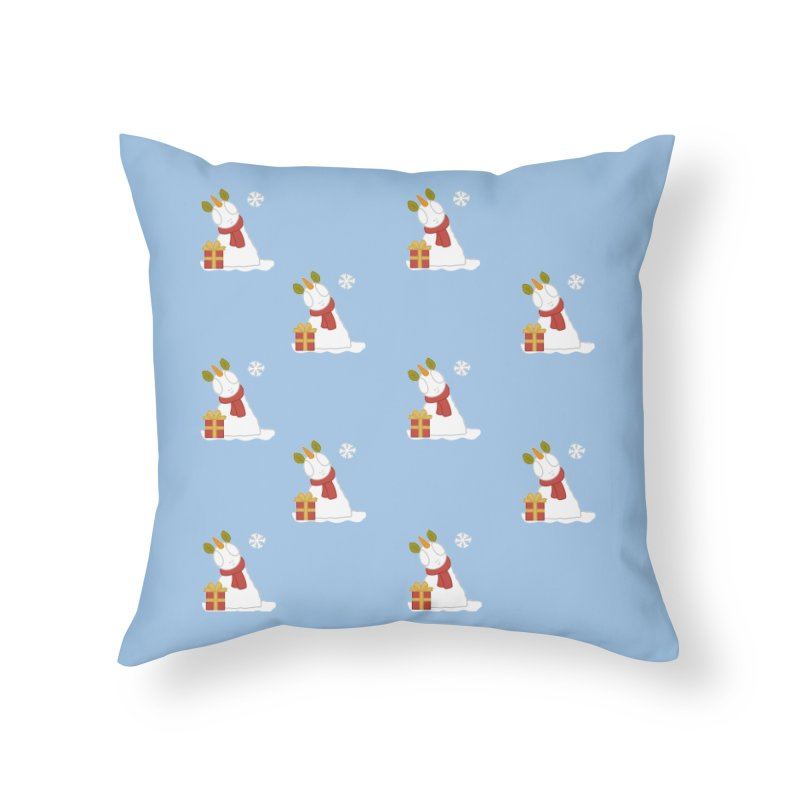 Snowpony Pattern Home Throw Pillow by EEKdraws's Artist Shop