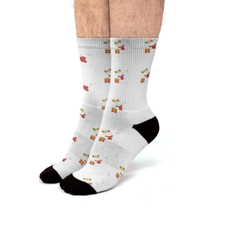 Snowpony Pattern Men's Socks by EEKdraws's Artist Shop