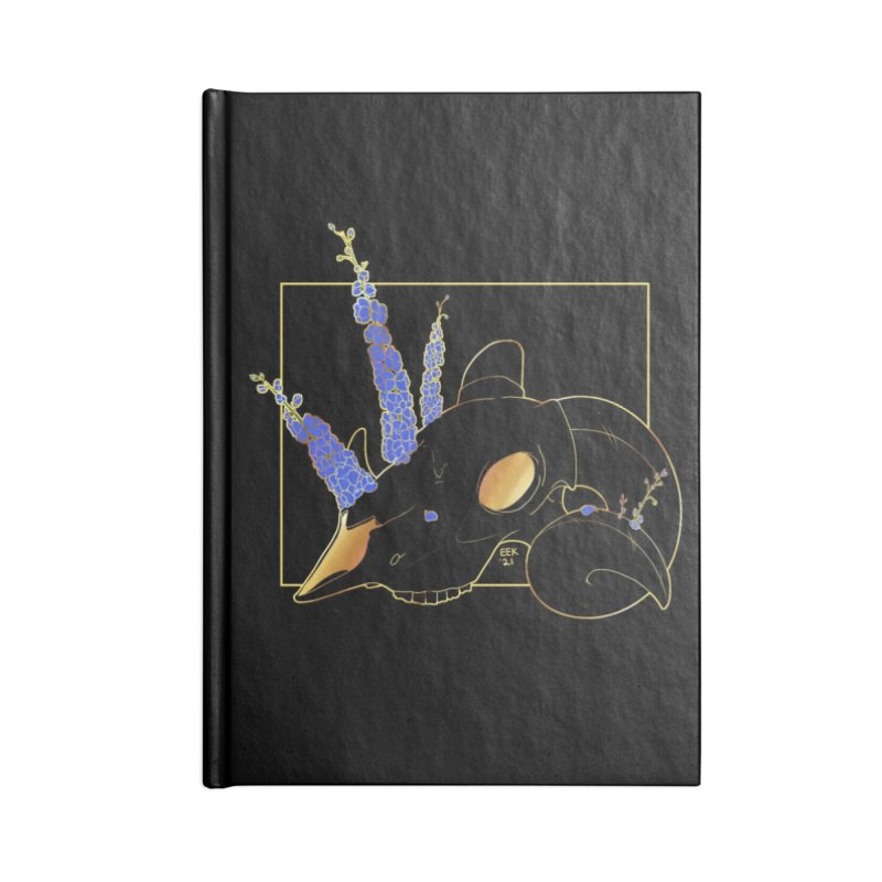 """""""Bold"""" - Of Flora and Death - Ram/Delphinium Accessories Notebook by EEKdraws's Artist Shop"""