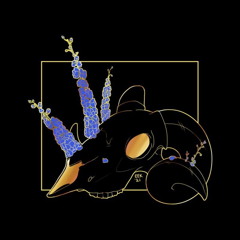 """Bold"" - Of Flora and Death - Ram/Delphinium Men's T-Shirt by EEKdraws's Artist Shop"