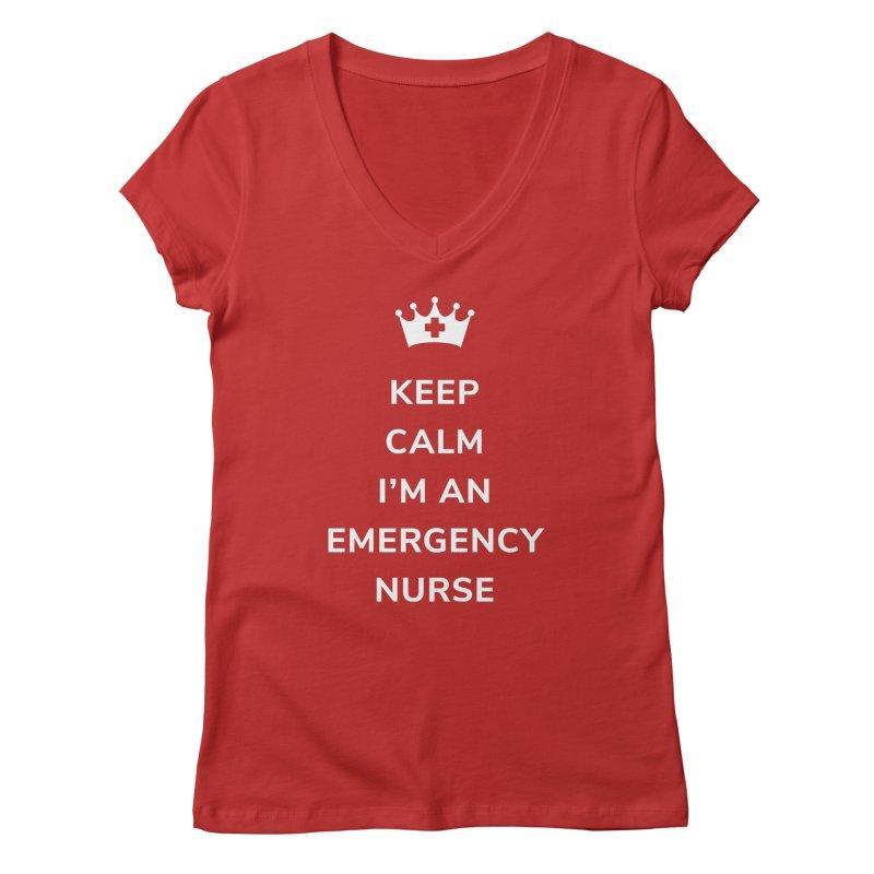 Keep Calm I'm An Emergency Nurse Women's V-Neck by ENA Together