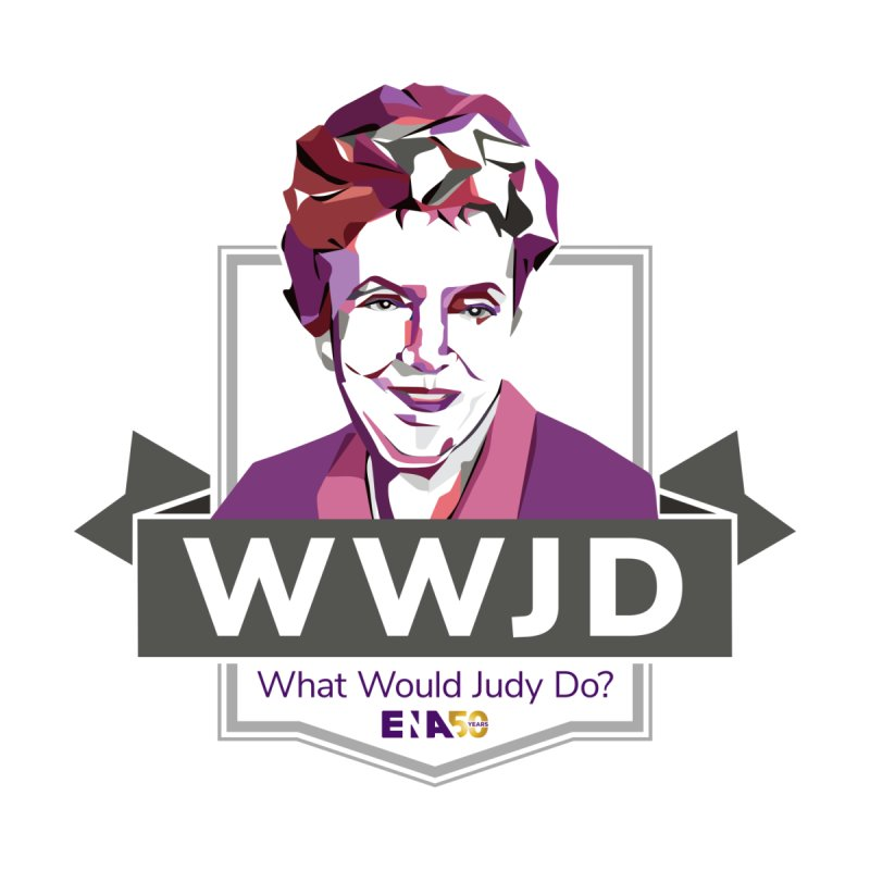 WWJD? (What Would Judy Do) Accessories Button by ENA Together