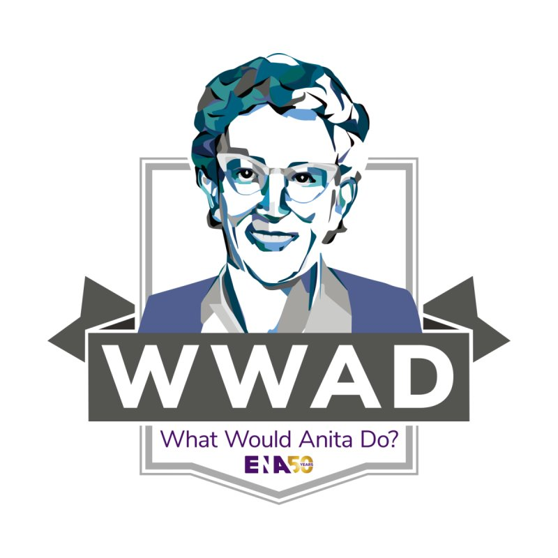 WWAD? (What Would Anita Do) Accessories Button by ENA Together