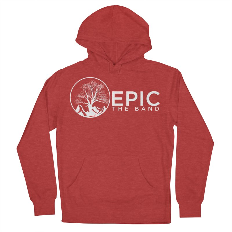 White Logo Women's French Terry Pullover Hoody by EPICtheBand's Artist Shop