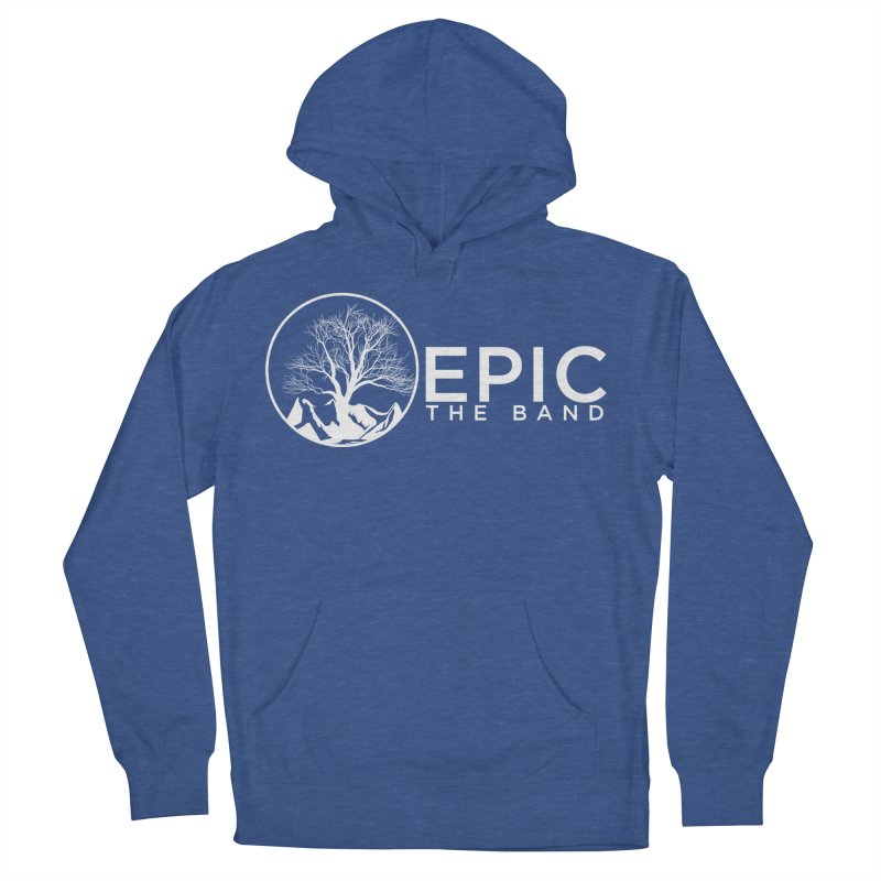 White Logo Men's French Terry Pullover Hoody by EPICtheBand's Artist Shop