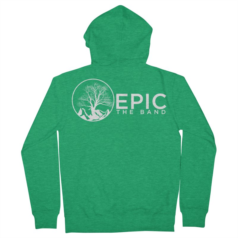 White Logo Women's Zip-Up Hoody by EPICtheBand's Artist Shop