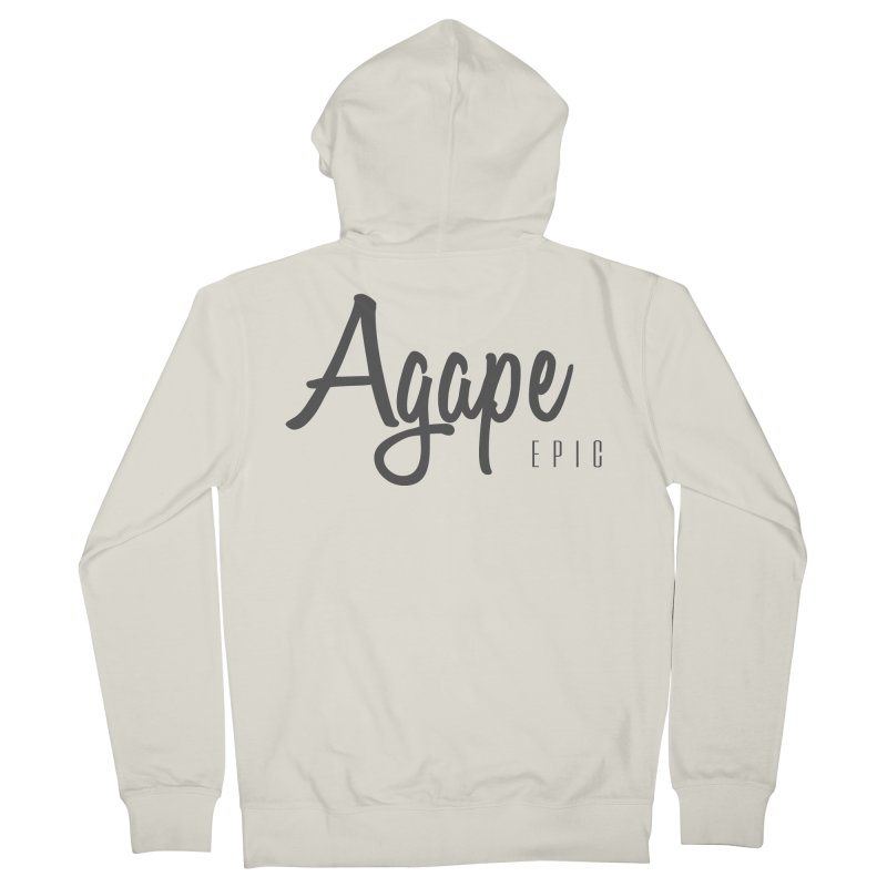 Agape Men's French Terry Zip-Up Hoody by EPICtheBand's Artist Shop