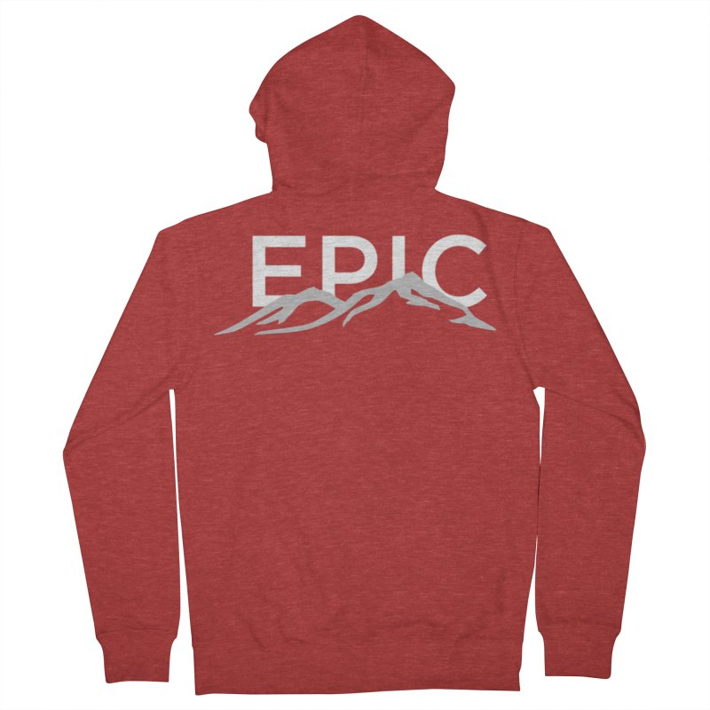 Mountain Men's French Terry Zip-Up Hoody by EPICtheBand's Artist Shop