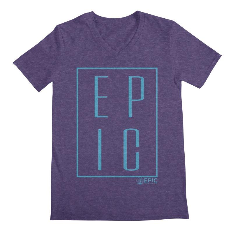 EPIC blue Men's Regular V-Neck by EPICtheBand's Artist Shop