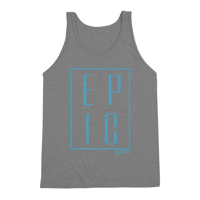 EPIC blue Men's Triblend Tank by EPICtheBand's Artist Shop