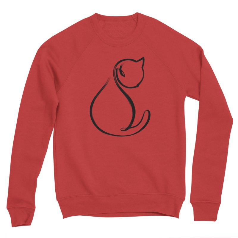 CAT MONOLINE Men's Sponge Fleece Sweatshirt by ES427's Artist Shop