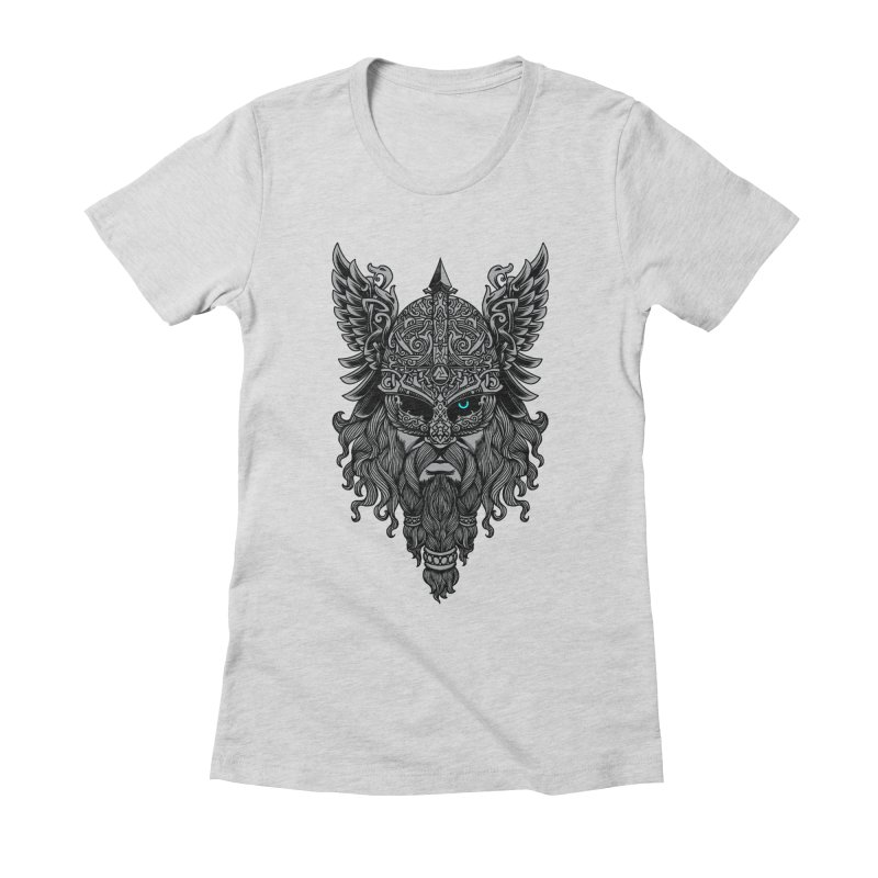Odin Women's Fitted T-Shirt by ES427's Artist Shop