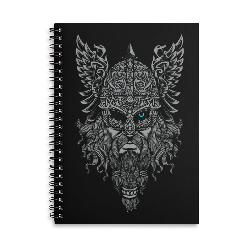Odin Accessories Lined Spiral Notebook by ES427's Artist Shop
