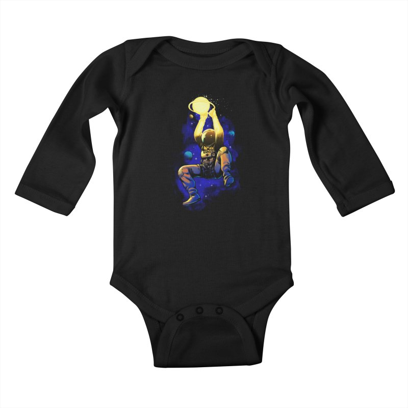 SATURN DUNK Kids Baby Longsleeve Bodysuit by ES427's Artist Shop