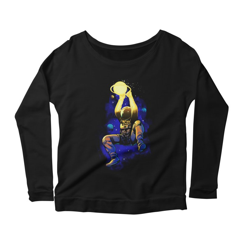 SATURN DUNK Women's Scoop Neck Longsleeve T-Shirt by ES427's Artist Shop