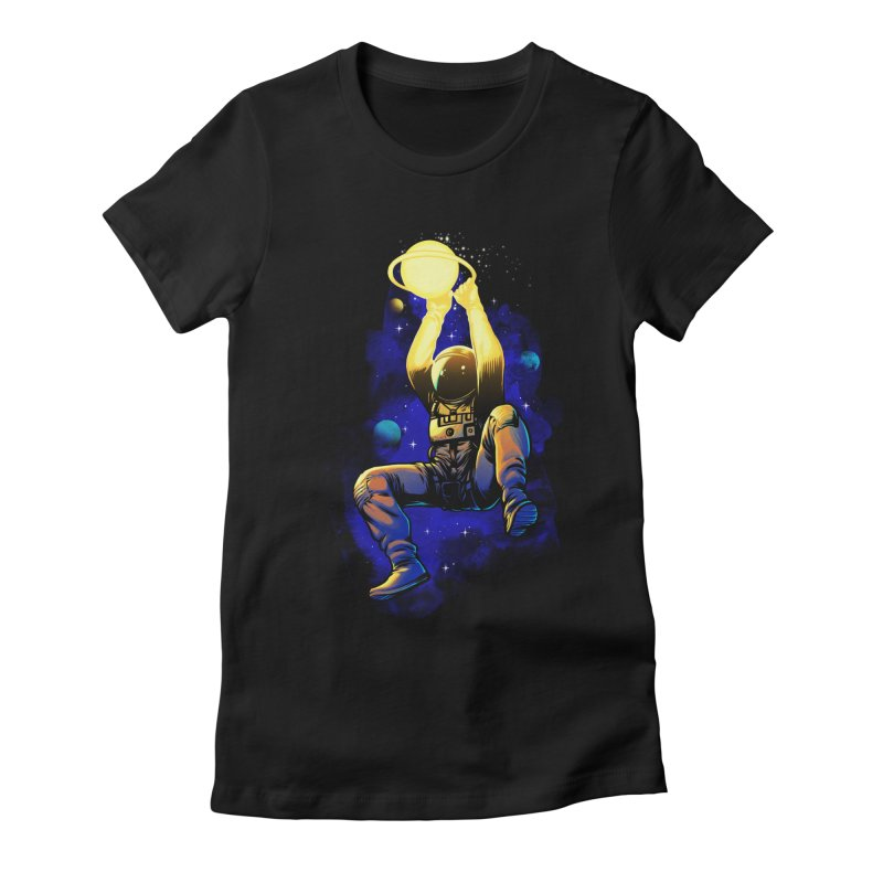 SATURN DUNK Women's Fitted T-Shirt by ES427's Artist Shop