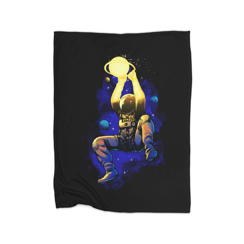 SATURN DUNK Home Fleece Blanket Blanket by ES427's Artist Shop