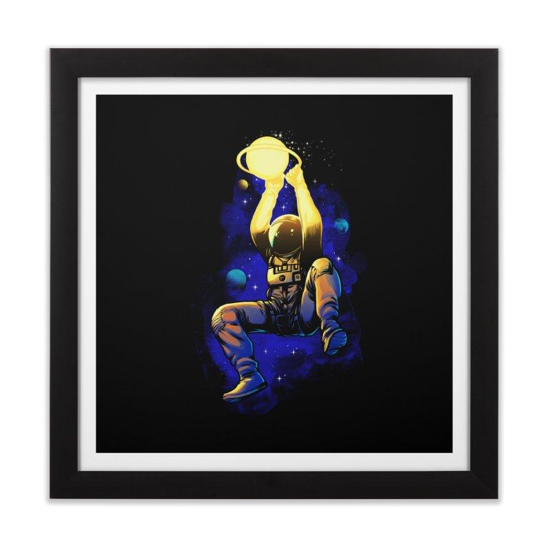 SATURN DUNK Home Framed Fine Art Print by ES427's Artist Shop